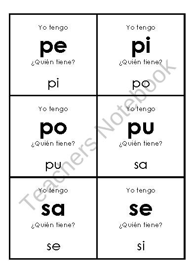 Yo tengo silabas product from Bilingual-Treasures on TeachersNotebook.com