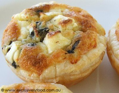 These quiches can be cooked in advance and kept in the refrigerator to be reheated when required. Reheat them in the oven rather than the m...