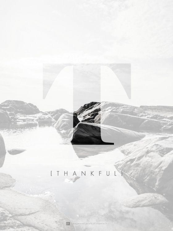 Kuvajulisteet - Juliste Thankful | Raamiin.fi - sisustustaulujen ja kuvien verkkokauppa