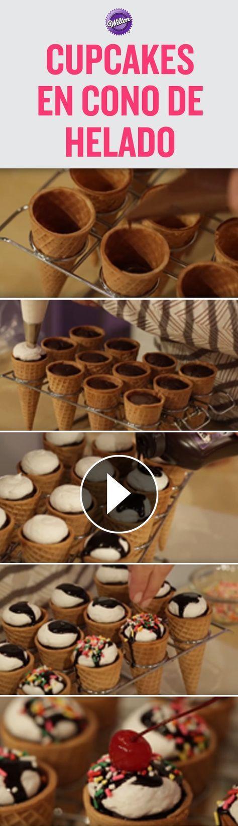 M s de 25 ideas incre bles sobre pastelitos de cono de helado que te gustar n en pinterest - Calorias de un cono de helado ...