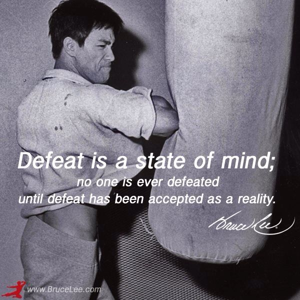 Defeat is a state of mind. #wordsofwisdom