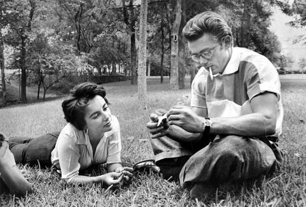 Elizabeth Taylor and James Dean, 1955