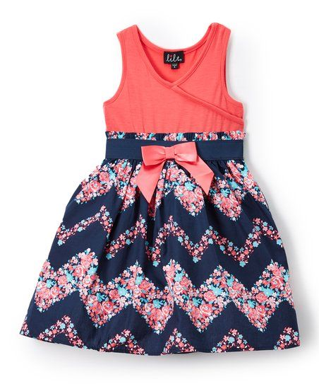 A soft, stretch-kissed bodice and breezy floral-patterned skirt promise comfort and girly-fresh style.Shipping note: This item is made to order. Allow extra time for your special find to ship.