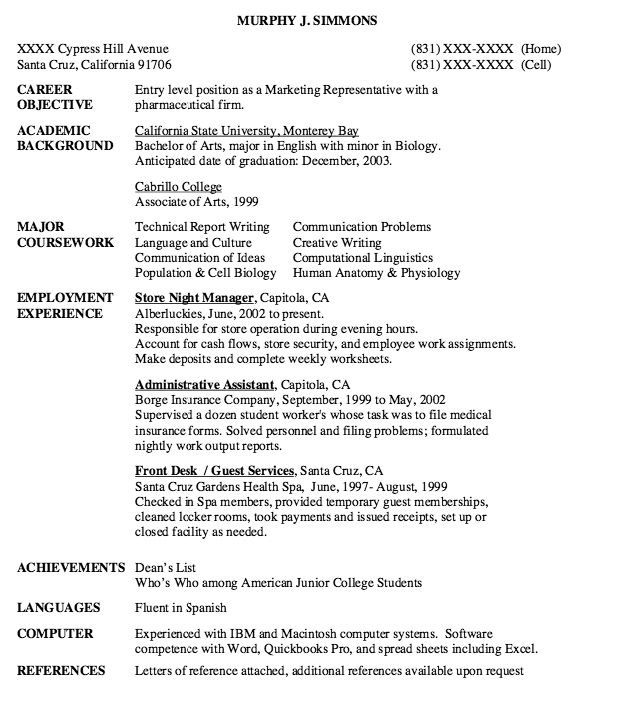 Entry Level Marketing Resume Sample Pode Nao Parecer Mas O