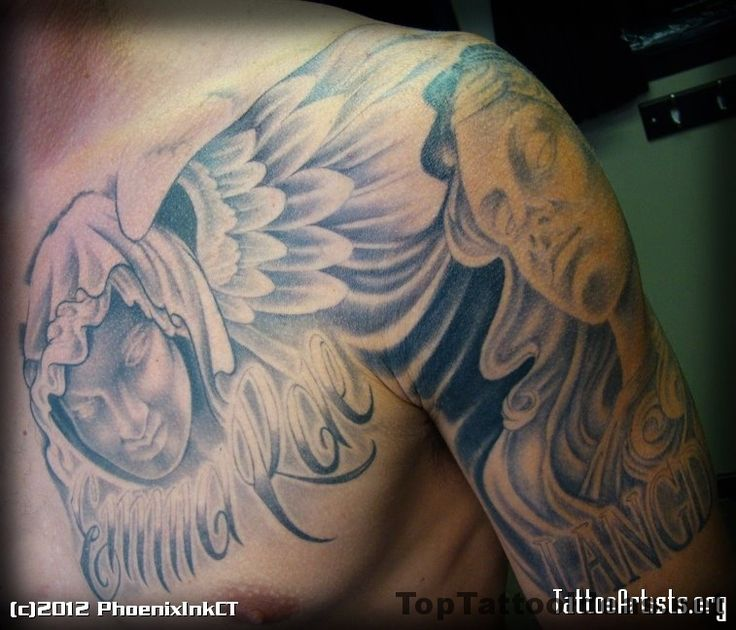 28 Best Images About Angel Tattoos On Pinterest