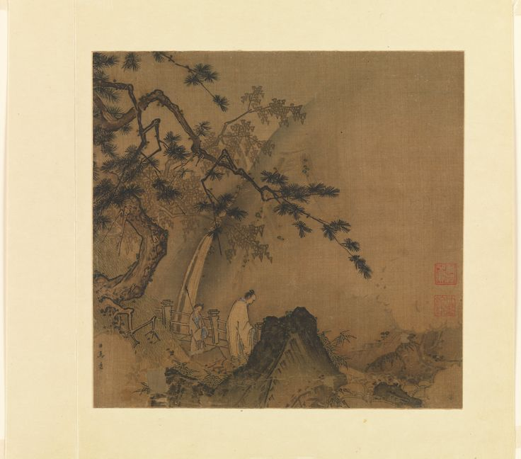 Ma Yuan (Active 1190-1225) - Scholar Viewing a Waterfall, late 12th-early 13th century