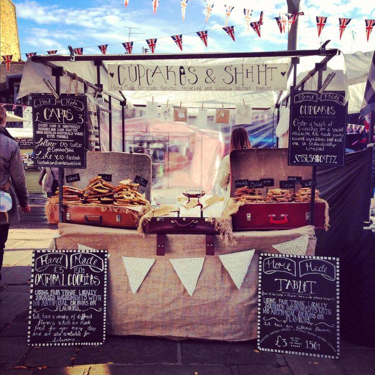 Cupcakes & Shhht - market stall, Camden lock