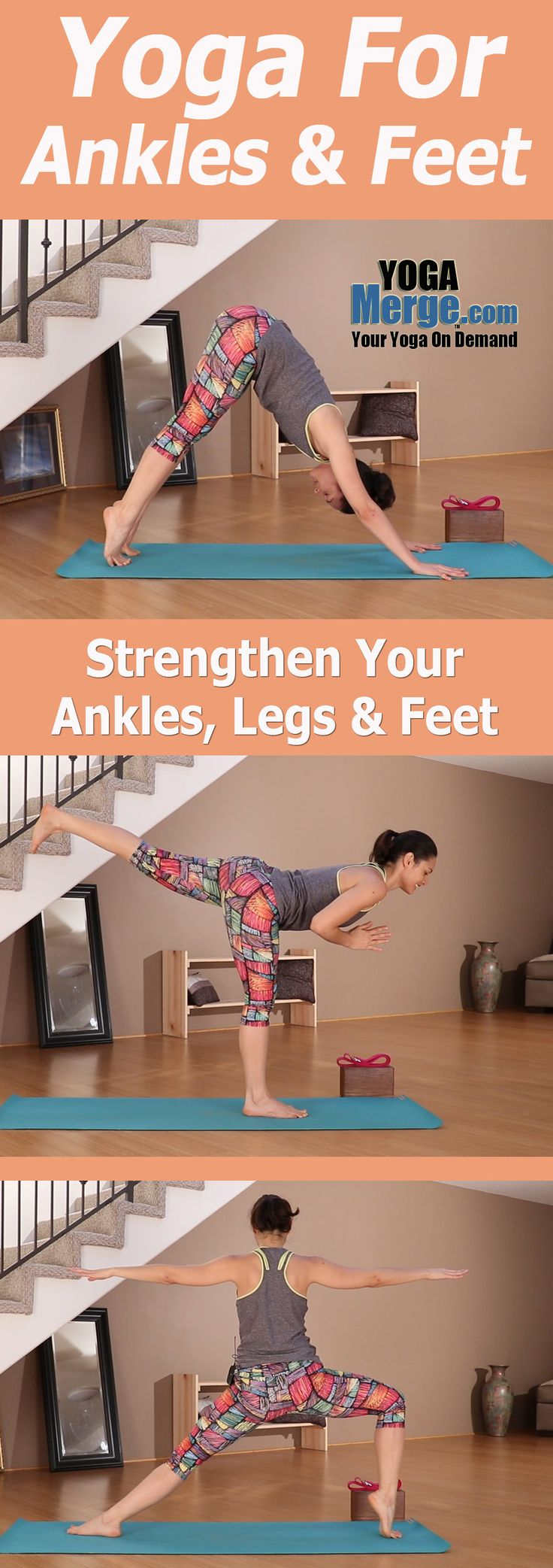 Join Ariana for class focused on helping strengthen your ankles, feet and legs. Build a little sweat as you work to create a better lower body. Full preview on our site! Online yoga classes for your home practice.