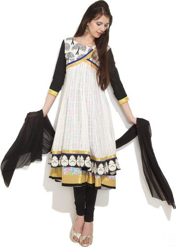 Layered Flared Anarkali Suit - SPAN