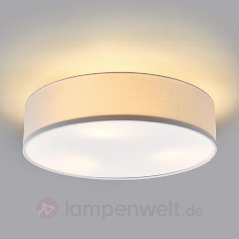 Weiße LED-Deckenleuchte Sebatin aus Stoff sicher & bequem online bestellen bei Lampenwelt.de.