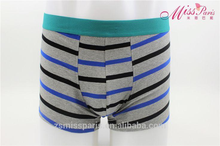 Conveniente tamaño de la ropa interior de los hombres calzoncillos boxer Para Hombre rayas boxeadores de algodón