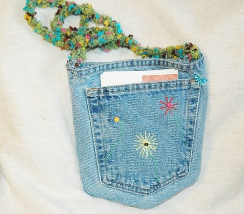 Note cards pockets purses blue jeans pockets pur upcycled blue