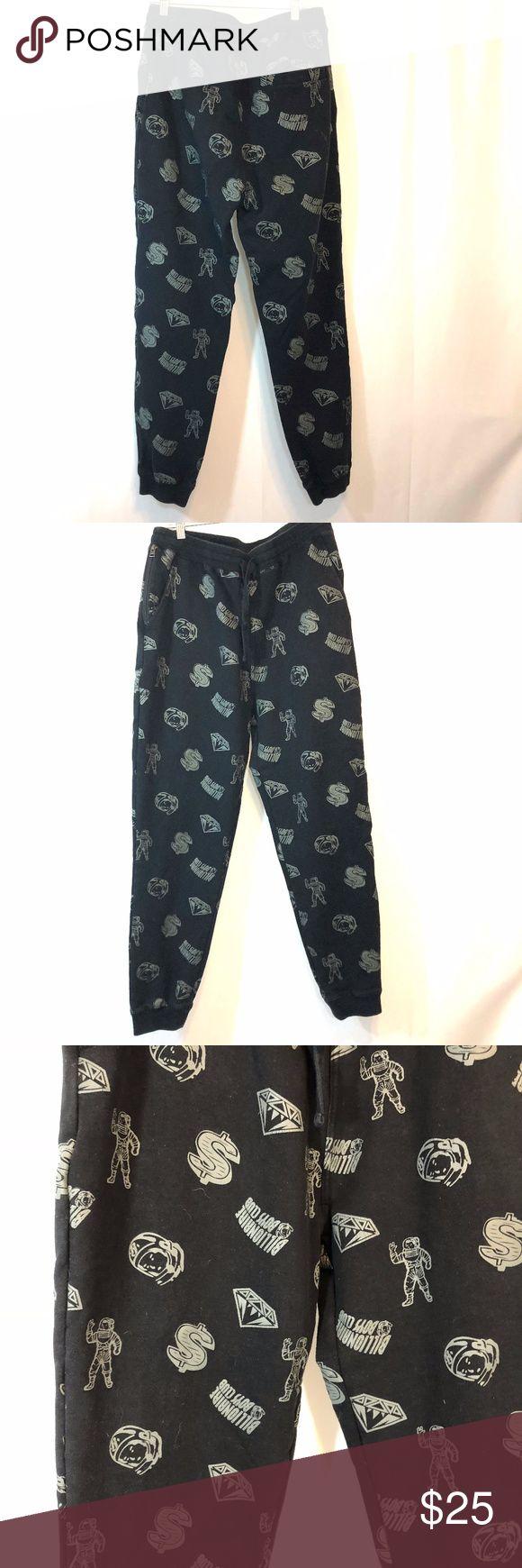 Billionaire Boys Club Sweat Pants Black cotton diamonds and dollars print coverage sweat pants. Billionaire Boys Club Pants Sweatpants & Joggers