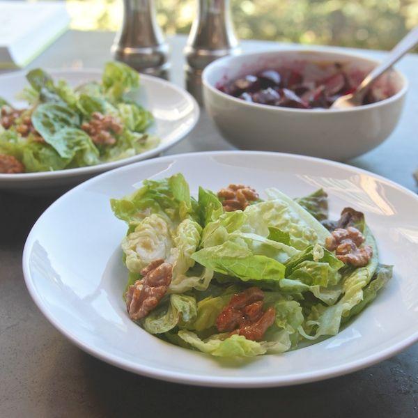 little gem lettuce salad with beets & walnuts // shutterbean.