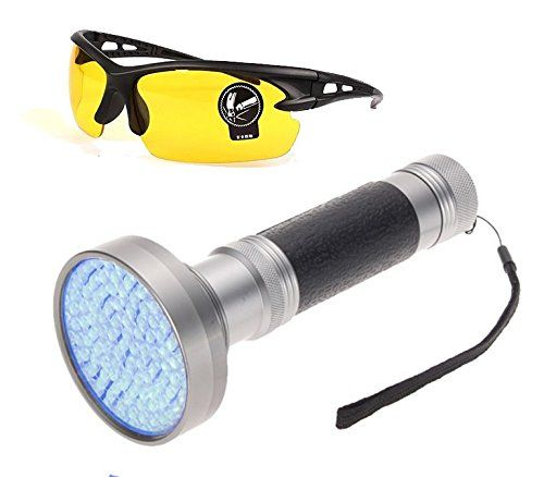 Wolf Electric 100 LED Black Light Flashlight with UV Protective Safety Sunglasses -- You can get more details at http://www.amazon.com/gp/product/B0197DWMGU/?tag=buyoutdoorgadgets.com-20&prw=020716052205