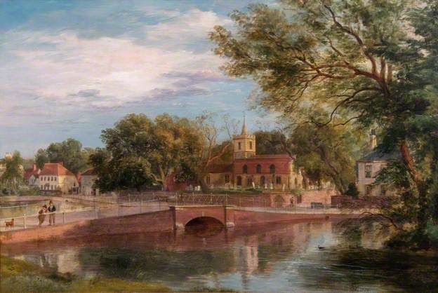 Carshalton, Surrey Ramsay Richard Reinagle (British, 1775–1862) Oil on canvas, 50 x 69 cm, 1840. Croydon Art Collection.