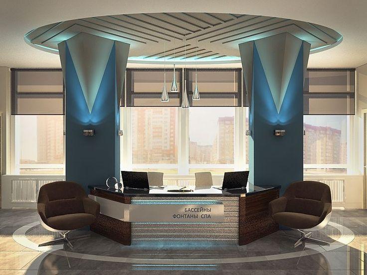 Декоративные колонны - Дизайн интерьера офиса компании «Паритет»
