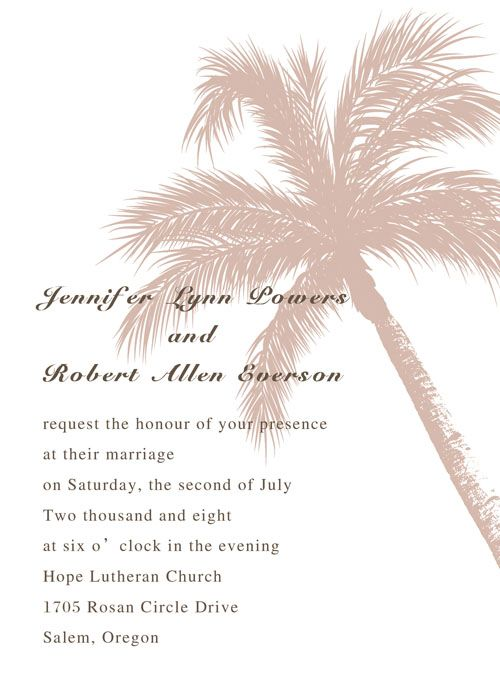 beach theme coconut tree destination wedding invitation cards online EWI056 as low as $0.94 |
