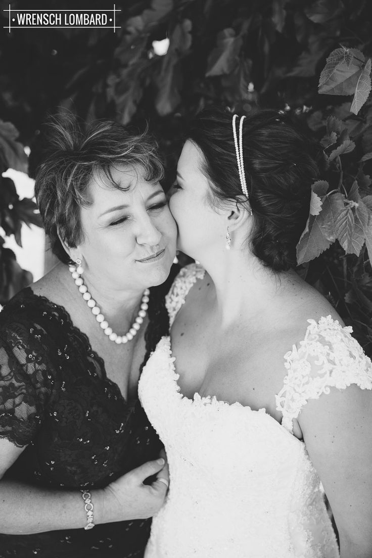 So cute! Mother and bride ♥