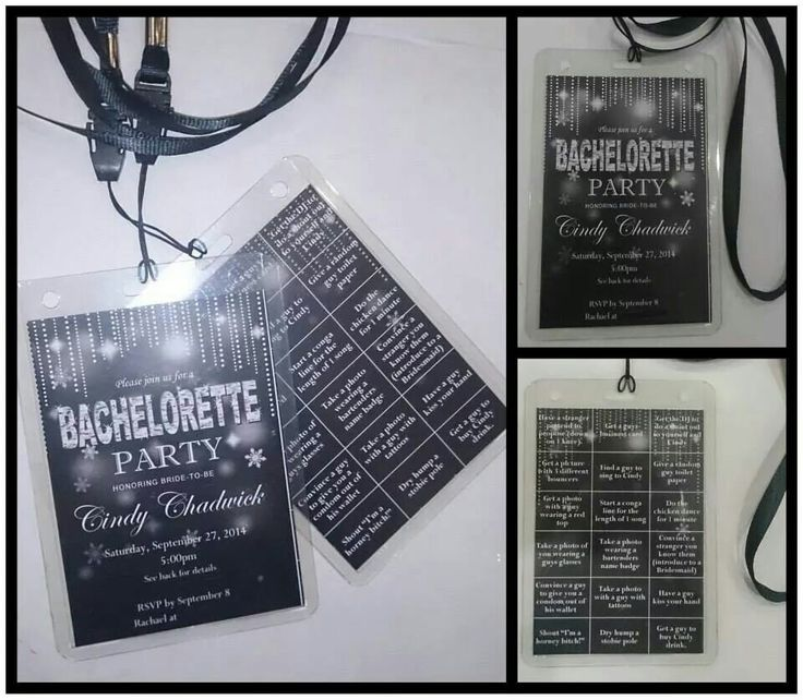 Black sparkle hens night invitation on lanyard, made by From Missy With Love www.frommissywithlove.com