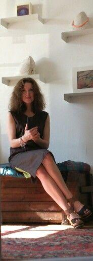 Льняное платье -туника