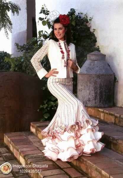 51 best flamenco white images on pinterest gypsy for Flamenco style wedding dress