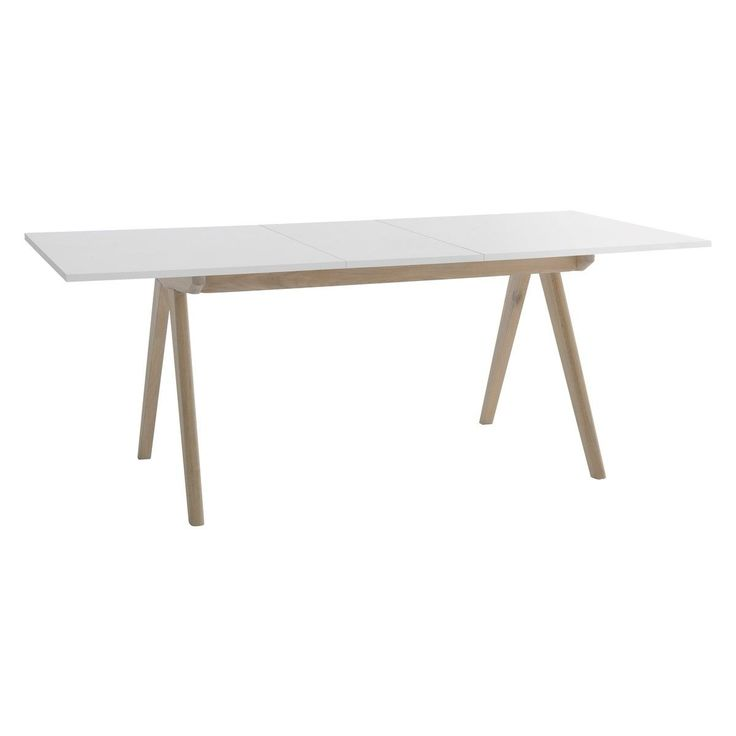 JERRY 4-10 seat white extending dining table