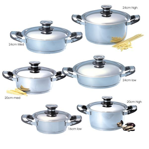NMC Stainless Steel Continenal Set. The universal favourite!