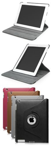 Swivel Stand iPad 4 Case - Full 360-degree rotation and 3 viewing angles for your iPad 4.