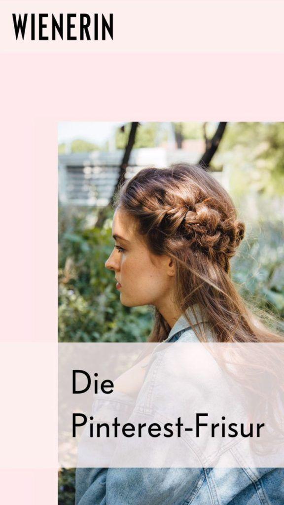 """Haben Sie schon einmal nach dem """"Pinterest Braid"""" gesucht? Die geflochtene Frisur ist a   – Kids Hairstyles"""