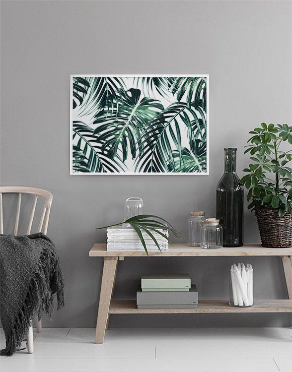 Tropical leaves, plakat i gruppen Plakater / Størrelser / 70x100cm hos Desenio AB (8385)