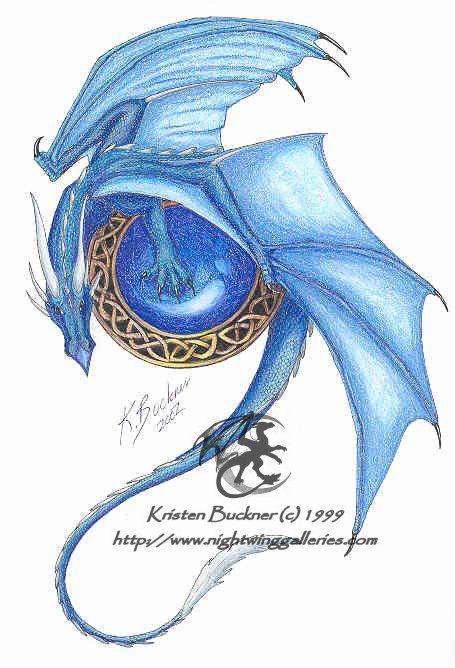 Celtic Fantasy Art | Celtic Dragon 1, Kristen SilverMoon Buckner, SciFi Fantasy Art