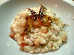 Risotto Fragole Taleggio e Bacon Croccante http://www.realcooking.it/risotto-fragole-taleggio-e-bacon-croccante/