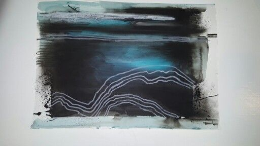Follow me on instagram @leannearohamulderart  Travels...acrylic, charcoal and pastel on paper. A3. #wakatipu #theremarkables #queenstown #charcoal #nzart #artist #mountains #fiords #moods #maori #ocean #sky#contemporaryart #newzealand #consciousness#abstractartist #abstractartwork #abstractart#queenstownholidays