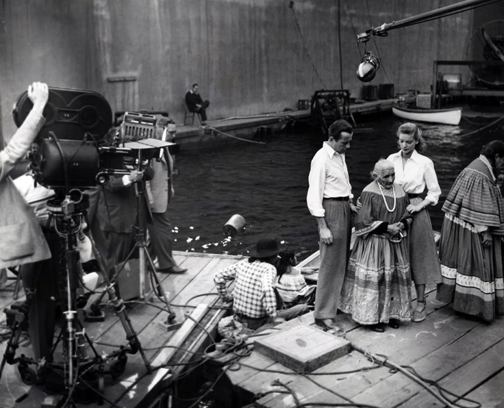 Key Largo (1948) - lauren bacall - humphrey bogart - set picture