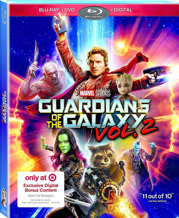 GUARDIANS OF THE GALAXY VOL. 2 TARGET EXCLUSIVE BLU-RAY (DISNEY)