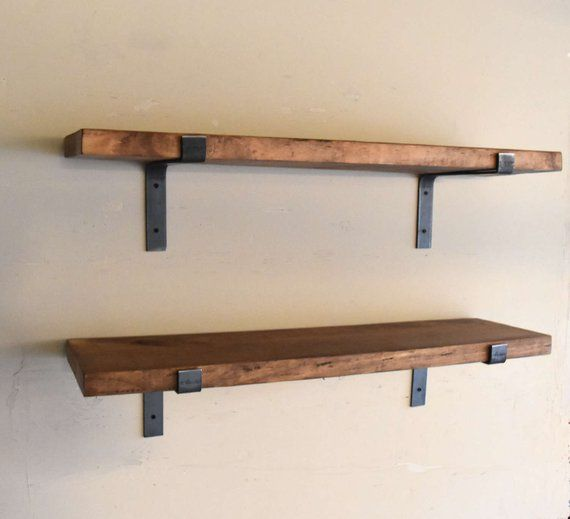 Fixer Upper Farmhouse Floating Shelf Flat Steel Handmade Etsy Floating Shelves Wooden Floating Shelves Ikea Floating Shelves