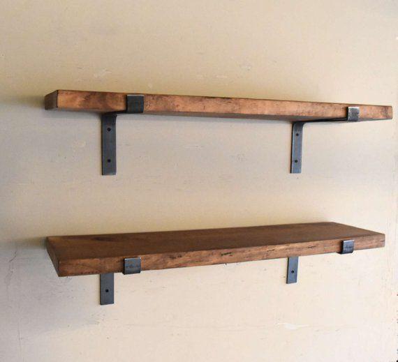 Fixer Upper Farmhouse Floating Shelf Flat Steel Handmade Etsy Floating Shelves Wooden Floating Shelves Ikea Floating Shelves