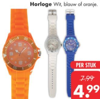 Wat vind jij van deze #horloges? Wij vinden het zeker een leuke #accessoire voor #koningsdag. Te koop bij #bigbazar. Bekijk de folder op www.reclamefolder.nl of download de app.