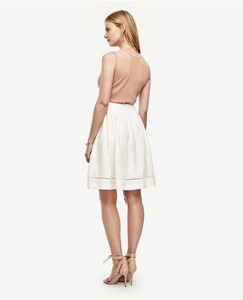 Thumbnail Image of Color Swatch 9192 Image of Linen Blend Full Skirt