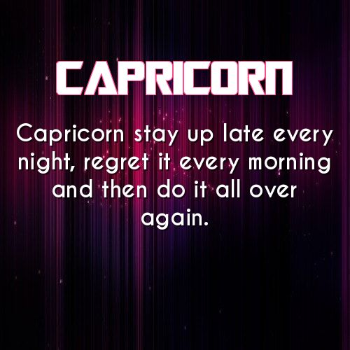 Truer words have never been spoken about a capricorn... in my opinion
