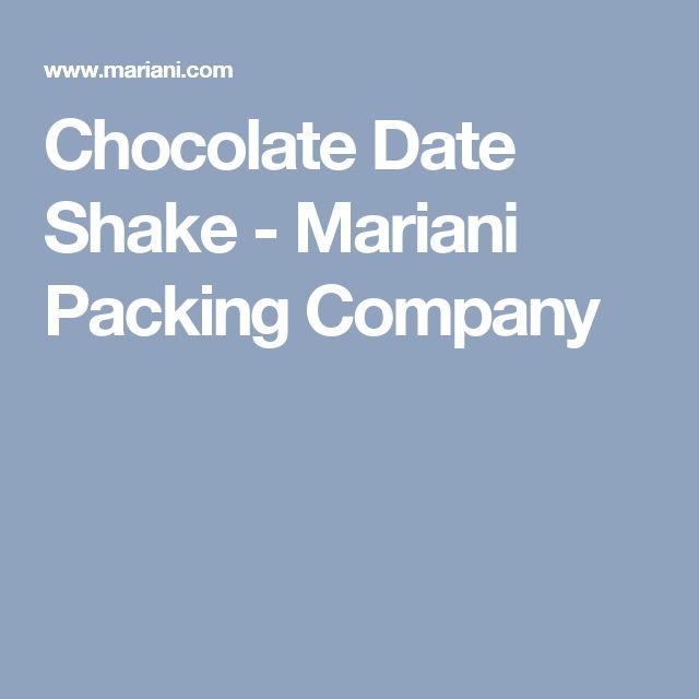 Chocolate Date Shake - Mariani Packing Company