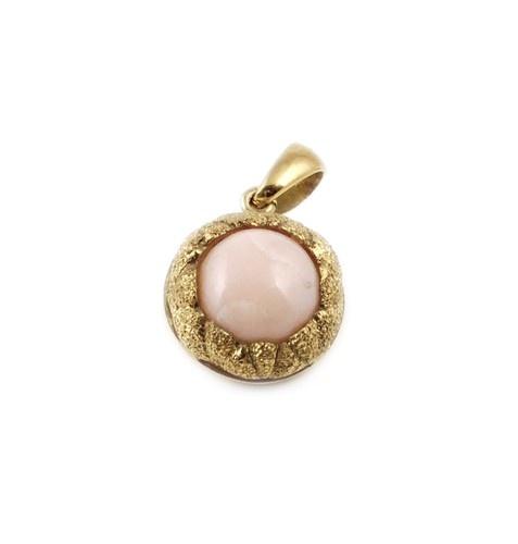 Ciondolo in Corallo Rosa e Oro 18k £380