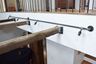 ラギット壁付けガス管照明 4灯