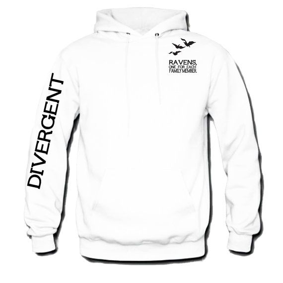 Divergent Hoodie Front and Arm Tris's Tatoo Stylehooded Sweatshirt-Inspired By Veronica Roth on Etsy, $28.00