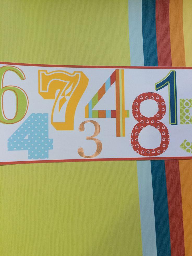 Cenefa y papel liso para combinar con papel de números.