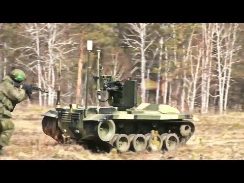 Russia - Russian Taifun-M Combat Robot In Action During Military Robot Live Fire Test