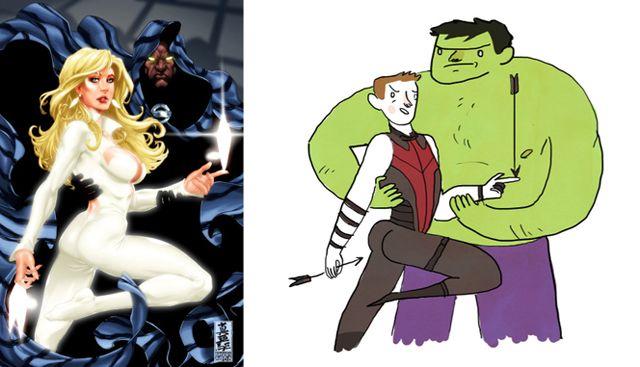The Hawkeye Initiative redraws absurd superheroine poses with Hawkeye