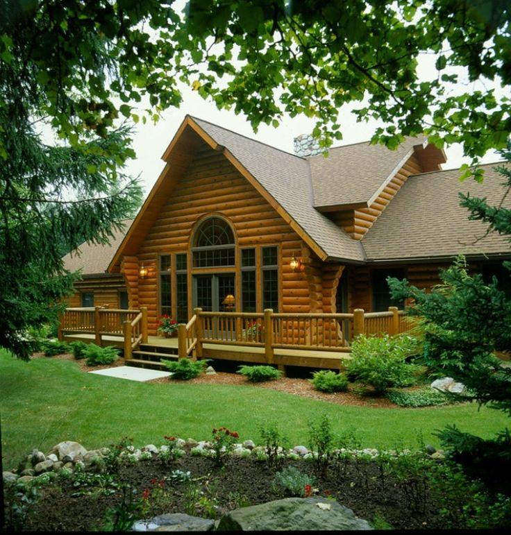 Mejores 53 im genes de viviendas de madera maciza en for Tejado madera maciza