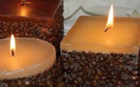 Velas aromáticas de café